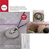Kit de réalisation de bijoux en béton créatif, 50g de béton, 1 moule, lanière cuir et breloque Etoile