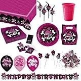 kit décoration anniversaire complet pirate fille pour 8 personnes