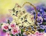 Kit Diamond Painting image la main bricolage pierres bébé chat Panier