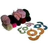 Kit essentiel de fabrication de pompons de 8 pièces de 4 tailles avec 5x25g de pelotes de laine par Kurtzy ...