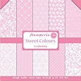 kit papier scrapbooking sweet colours rose