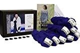 Kit tricot DesignEtte-Rosebud-Poncho-fils, 100% laine pour la conception de Taille XL/XXL/Bleu-Taille L
