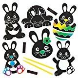 Kits d'aimants pour frigo à gratter en forme de lapin de Pâques que les enfants pourront fabriquer - Loisirs créatifs ...