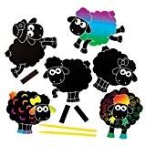 Kits d'aimants pour frigo à gratter en forme de mouton que les enfants pourront fabriquer - Loisirs créatifs pour enfants ...