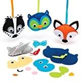 Kits de couture animaux de la forêt qui permettront aux enfants de fabriquer, décorer et exposer leurs créations d'automne (Lot ...