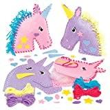Kits de Couture Coussins Licornes en Feutre que les Enfants pourront Fabriquer et Décorer pendant leurs Loisirs Créatifs de l'Été, ...