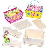 Kits de Paniers de Pâques en Bois que les Enfants pourront Fabriquer, Décorer et Remplir de Friandises pour Pâques (Lot ...