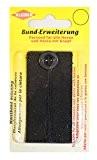 Kleiber 100% coton rallonge ceinture pour pantalon et jupe, Noir