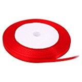 Kolylong RUBAN SATIN Boutique 6mm * 22m Couleur Pure Grosgrain Ribbon Value Pack De Ruban Cadeau Craft MatéRiaux Avec NœUd ...