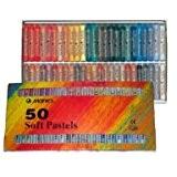 Künstlerbedarf Boîte de 50 pastels secs Marie's C, tons chauds et froids