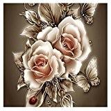 La Cabina 5D Peinture en Diamant DIY Point de Croix en Résine Décoration de Maison Salon Chambre - Fleurs