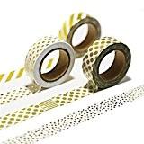 LATH.PIN 6 rouleaux Washi Tape Masking tape- Ruban Adhésif Papier Décoratif - 15mm x 10M