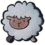 Le mouton blanche 8 cm Ecusson enfant patch thermocollant enfant fille bebe patch applique broderie pour vêtement vetements ecusson thermocollant ...