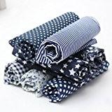 leisial 7PZ tissu coton Tissus Imprimé Coton pour coudre Tissu au mètre, tissu pour Patchwork foncé manuel DIY 50cmx50cm