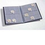Leuchtturm Album de poche avec 8 Feuilles Numismatiques pour chacune 12 pièces, bleu