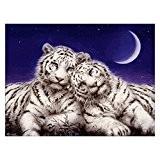 LianLe®DIY 5D Animal Tigre et Lion Broderie Diamant Cristal Peinture Décor Maison 35*45CM