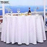 LINGHOU Hôtel tour couleur unie Jacquard table cloth restaurant nappes nappes , 2.0m table cloth