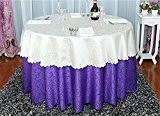 LINGHOU Restaurant banquet nappe nappe double solide polyester Jacquard nappe , a , 2.0m table cloth