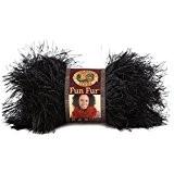 Lion Brand Yarn Company 1 pièce Fun Fur Yarn, Noir
