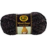 Lion Brand Yarn Company 1 pièce Wool-Ease Thick and Quick, Pierre noire, Noir