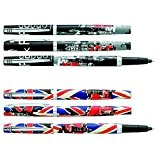 LONDON ROCK - 1 Stylo bille rechargeable - 2 graphismes au choix