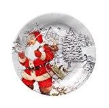 Lot 10 grande Assiette carton Père Noël - Décoration Table Noel - 328