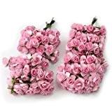 Lot 144 fleur papier bouquet rose artificielle décoration mariage scrapbooking