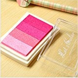Lot de 1 Tampon en bois en papier Rose Colorful Pad Tampon d'encre Pad d'encre pour Tampon Deco Stamp Craft Joint ...