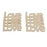 Lot de 10 Mots Love en Bois Embellissements Artisanat Scrapbooking Décoration