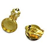 Lot de 12Pcs Clip de Boucles d'Oreilles pour 12mm Cabochon Fabrication de Bijoux - d'Or