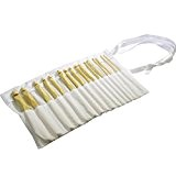 Lot de 16 crochets bambou haut de gamme 2mm-12mm dans une pochette en coton gratuite par Curtzy TM