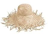 Lot de 20 Chapeaux de paille Chapeau en raphia tressé couleur nature (SH-21)