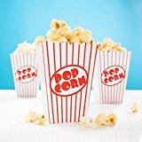 Lot de 24boîtes à popcorn rayées rouge et blanc pour soirée cinéma, etc.