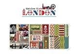 Lot de 3 feuilles Vintage London Paper Paris Déco Stickers Scrapbooking (Welcome to London)