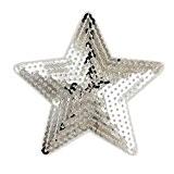 (Lot de 5) 5en forme d'étoile à paillettes brodé patchs à coudre ou Iron on patches