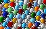 Lot de 500g de mosaïque en verre décoratif Pépites, multicolore/Transparent, 15à 21mm, env. 120Quantité