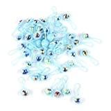 Lot de 50pcs Mini Hochets Cadeau Faveur Décoration pour Fête de Naissance - Bleu