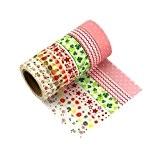 Lot de 6 Washi Tape Masking Tape Ruban adhésif décoratif coloré Scrapbooking -Q6