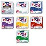 "Lot de 7 pâtes à modeler ""FIMO Effect"" - Glitter"