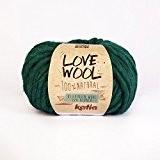 Love Wool, épais Mèche de fil de Katia dans émeraude (117)