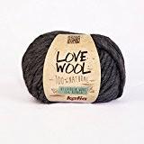 Love Wool, épais Mèche fil de Katia dans Anthracite (107)