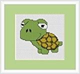 Lucas Kit canevas point de croix tortue Débutant 9cm x 7.5cm