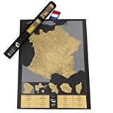 Luckies of London LUKFR Carte à Gratter Mondiale Personnalisée Edition France Papier Multicolore 82,5 x 59,4 x 0,2 cm