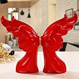 Lx.AZ.Kx Céramique moderne Artware Ornements Mariage Décoration Meuble Tv Papillon rouge,Couples