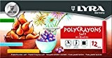 Lyra - Boite de 12 Pastels tendres Polycrayons soft, couleurs assorties