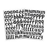Mademoiselle Toga MEG602 Alphabet de 104 lettres thermocollantes Lola Tissu Noir 15,5 x 27,5 x 0,1 cm