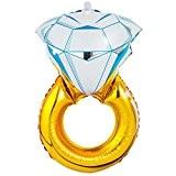 """MagiDeal 43"""" Bague Diamant Forme Ballons Gonflé à l'air/Hélium Foil Mylar pour Décoration Fête Mariage Saint Valentin"""