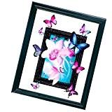 MagiDeal Kits DIY 5D Diamant Peinture de Broderie au Point de Croix Artisanat Craft Décor - Papillon Romantique