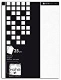Mahé PB120 Bloc de 25 Feuilles Unies Papier Blanc 15 x 20 x 0.5 cm