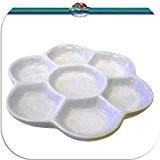 Malpalette en porcelaine avec 7 farbmischmulden